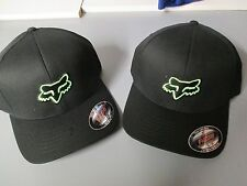 Fox Racing MX Headwear Legacy Flex Fit Hat Black Green Cap 58225 New Ball Cap