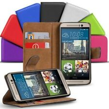 Book Flip for HTC One M9 Mobile Phone Case Flip Cover Wallet Protector Pouch
