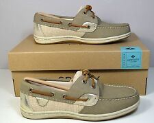 NIB SPERRY TOP SIDER KOIFISH CORE TAUPE PLAT BOAT SHOES FLATS SZ 5