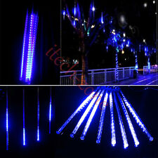 Outdoor/Indoor Connectable 240LED 50CM Tubes Meteor Shower Rain Lights Xmas Blue