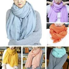 Women Fashion Long Cotton Linen Girls Large Scarf Wrap Shawl Stole Scarves Q61