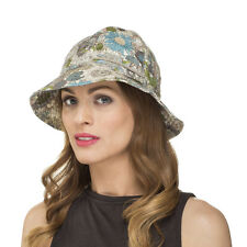 Ladies & Girls Flexible Foldable Cotton Floral Print Summer Sun Bucket Hat