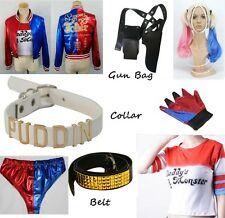 Harley Quinn Suicide Squad Batman Costume Cosplay Halloween Accessories Lot