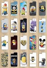 Apple iPhone, iPod Touch 5, 5S, SE, 6, 6S, 7, Plus Minions Clear Phone Case