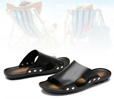 Fashion Men Male Summer Sandal Casual Beach Outdoor Slippers Leather Flip Flops