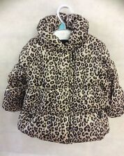 BABY GIRL CUTE PADDED ANIMAL PRINT JACKET / COAT SIZE'S 0 3 6 9 12 18 MONTHS