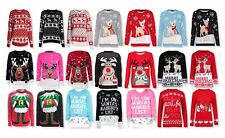 NEW LADIES WOMENS MENS XMAS CHRISTMAS NOVELTY VINTAGE 70'S JUMPER RETRO SWEATER