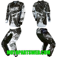 ONeal Element Enigma Black Kids/Youth Motocross Dirtbike Gear Jersey Pants Combo