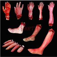 New Halloween Horror Props Lifesize Bloody Hand Haunted Party Scary Decoration #