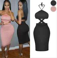 New Fashion Sexy Women Braces Backless Evening Party Dress Lady Slim Skirts 1006