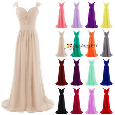 New Stock Formal Long Wedding Bridesmaid Dress Evening Prom Party Ball Gown 6-20
