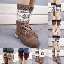 Snowflake Christmas Women Leg Warmers Winter Knitted Warm Cover Sock Hot g42