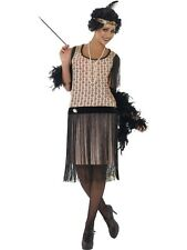 ADULT WOMENS 1920'S COCO FLAPPER COSTUME SMIFFYS 1920'S FANCY DRESS - 3 SIZES