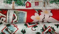 Q5 Fat Quarter Bundle Lot Old Fashioned Christmas Vintage Holiday Fabric FQs