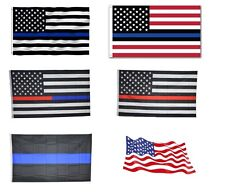 USA American Flag Blue Line Flag United States Banner US Polyester America New