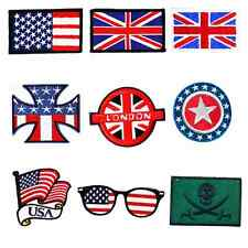 Country Flags Sew Embroidery Iron On Patch Badge Clothes Fabric Applique