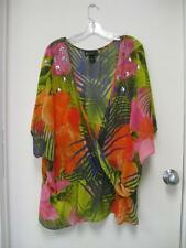 LANE BRYANT multicolored sheer sequin tunic size 26/28
