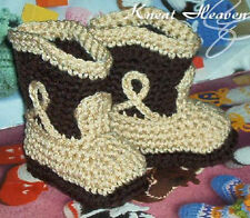 Boutique Kneat Heaven Crochet Cowboy Cowgirl Boots Baby Booties