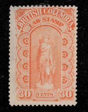 Canada BCL13b SG  U  F 30c Law Stamp [7139] CV=$40.00 British Clolumbia - CV is