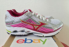 New Womens Mizuno Wave Rider 15 Size 6 15th ANNIVERSARY pink lime green 8KN20365