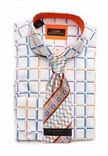 Dress Shirt Steven Land Rounded Spread collar Round French Cuff-Multi-TA1622-MU