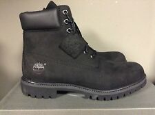 Timberland Mens 6 Inch Double Sole Premium BLACK Leather Work Boots Style 10073