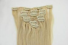 Clip In Remy Striaght Human Hair Extensions #613 Blonde Bleach 70g-220g 7pcs/set