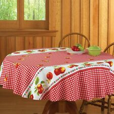 Red Gingham Apple Kitchen Tablecloth, by Collections Etc