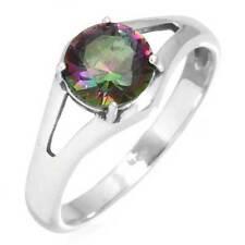 925 Solid Sterling Silver Best Seller Jewelry Mystic Topaz Ring Size 7 EX55284