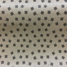 """Tan Brown Square Faux Weave Embossed Upholstery Vinyl Fabric By The Yard 54""""W"""