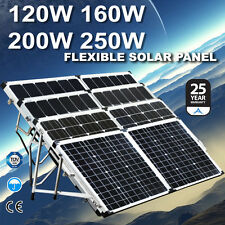 New 120W 160W 200W 250W  12V Folding Solar Panel Mono Camping Battery Charging