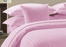 800 TC Pink Striped-Duvet/Fitted/Sheet Set/Pillow Egyptian Cotton All Size