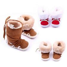 0-12 M Baby Girl Boy Newborn Winter Warm Boots Toddler Infant Soft Sole Shoes