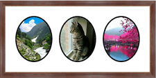 Traditional Mahogany Collage Picture Frame 3 Opening Photo Frame Frames By Mail