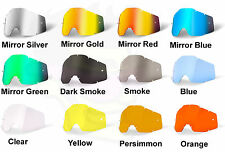 100% Racecraft Accuri Strata Goggle Replacement Mirror Tinted Lens - ALL Colors