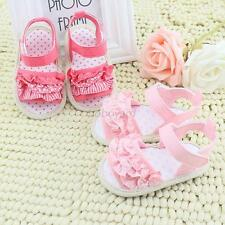 Princess Newborn Summer Sandals Baby Infant Girl Lace Soft Sole Crib Shoes 0-18M