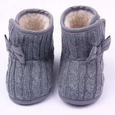 Xmas Toddler Baby Kids Snow Boots Girls Winter Warm Soft Shoes Booties Trainers