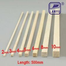 500mm Balsa Wood Sticks DIY Craft Model Wood Building Construction Various Sizes