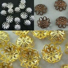 Gold /Silver/Copper Plated Flower Bead Caps Jewelry Findings 10 12mm Lot Pleased