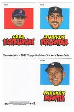 2012 Topps Archives Stickers Baseball Team Sets ** Pick Your Team Set **
