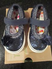Morgan & Milo Girls Shimmer Mary Jane Navy Sizes   7-12   NEW