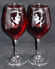 "New Etched ""Elvis Presley"" Stylish Wine Glasses - 1 or 2 & Optional Gift Box WM3"