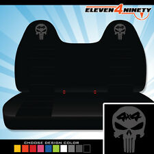 92-08 Ford F150-750 Black Front Bench Seat Covers 4x4 Skull. Choose Logo color