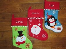 Deluxe Personalised Xmas Stocking (any name) - Free UK 1st class postage