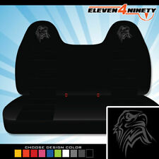 92-08 Ford F150-750 Black Front Bench Seat Covers T Eagle Logo. Chse Logo color
