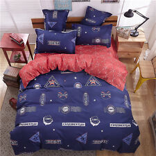 Bedroom Single Double Queen King Size Bed Set Pillowcase Quilt Duvet Cover