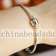 19CM Silver Plating Bracelet Snake Basic Chain European Charm Fit European Beads
