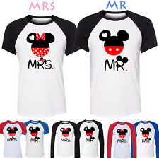 Disney Mr Mickey Mrs Minnie Mouse Design Couple T-Shirt Womens Mens Graphic Tee