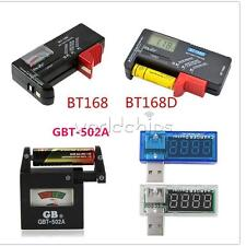 Universal AA AAA C D 9V 1.5V Button Cell Battery Volt Tester Checker Indicator W
