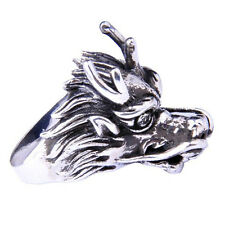 Mighty Dragon .925 Silver Ring for Guys & Cool Jewelry for Men SZ15-1304